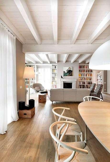 27. Os tipos de Forro de PVC branco é ideal para a decoração da sala