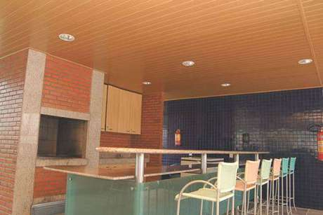 9. O Forro de PVC também pode ser usado em ambientes como a churrasqueira.
