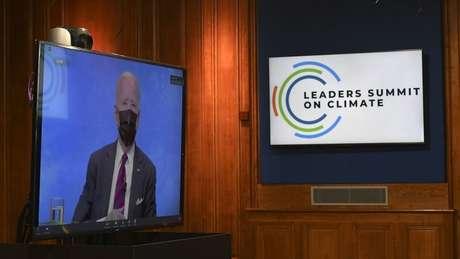O presidente americano, Joe Biden, anunciou metas mais ambiciosas de corte nas emissões dos Estados Unidos durante Cúpula de Líderes sobre o clima