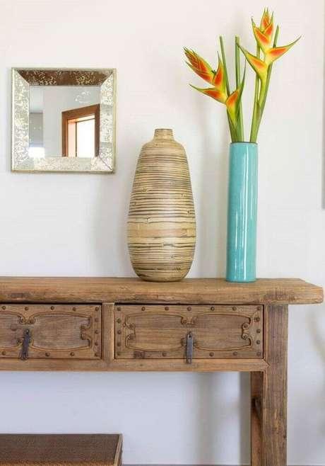 20. Os móveis e objetos de decoração fazem toda a diferença na decoração final da casa de fazenda.