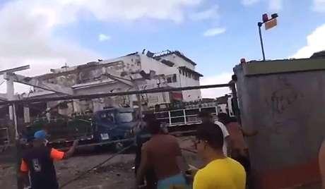 Explosão deixou feridos e moradores assustados