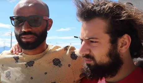 Jogador Nunes e Cartolouco protagonizaram amizade em websérie do jornalista (Reprodução/YouTube Cartolouco)