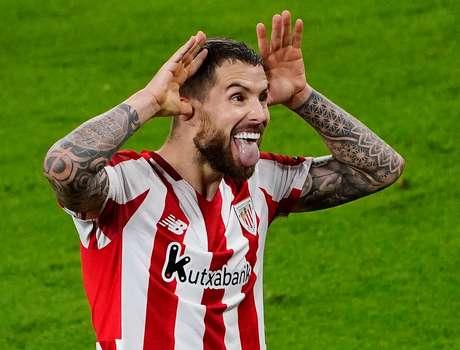 Inigo Martinez, do Athletic Bilbao, comemora o segundo gol