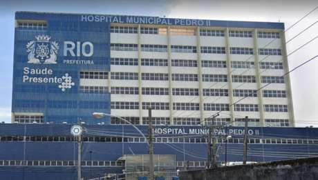 Kaio Guilherme da Silva Baraúna está internado no Hospital Municipal Pedro II, em Santa Cruz, no RJ
