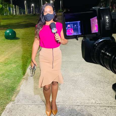 Driele Veiga, repórter da TV Aratu