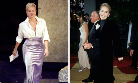 Sharon Stone de GAP no Oscar (Fotos: Reprodução)