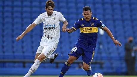 O Santos eliminou o Boca Juniors nas semifinais da Libertadores de 2020 (Foto: Marcelo Endelli / AFP / POOL)