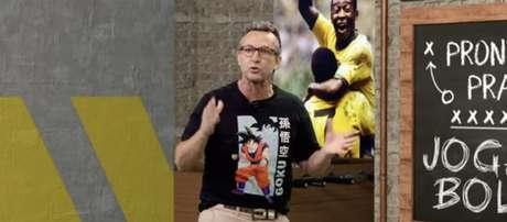 Neto durante a apresentação do 'Donos da Bola', programa esportivo diário que apresenta na Band SP (Reprodução / Band)