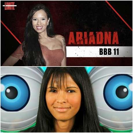 Acima, Ariadna, 36 anos, na divulgação da quinta temporada de 'No Limite'; abaixo, no 'BBB11', aos 26