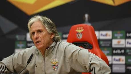 Jorge Jesus pediu retorno dos fãs aos estádios de futebol em Portugal (Foto: Tânia Paulo / SL Benfica)