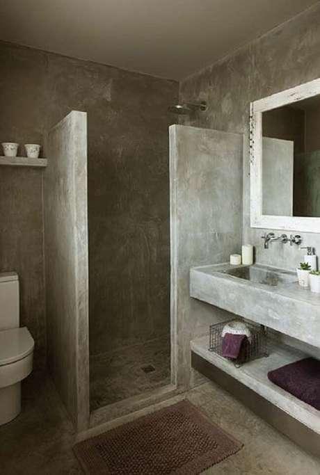 43. Modelo de bancada de cimento queimado banheiro. Fonte: Arkpad