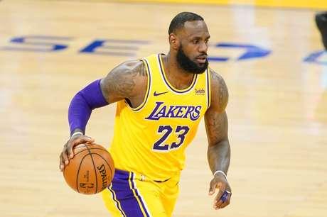 "LeBron James volta a ""ser dúvida"" no Los Angeles Lakers 15/03/2021 Kyle Terada-USA TODAY Sports"