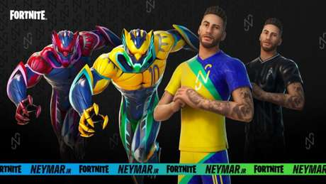 Skins de Neymar Jr. em Fortnite