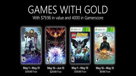 Games do Xbox Live Gold de maio