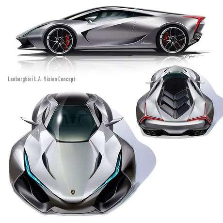 Conceito LA Vision foi apresentado pela Lamborghini Latinoamérica em 2014.