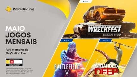 Jogos da PS Plus de maio de 2021