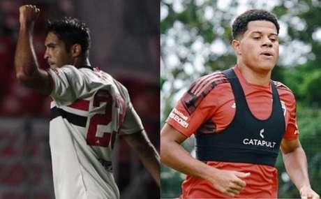 Eder e Sara serão desfalques na Libertadores (Fotos: Rubens Chiri/ saopaulofc.net eFellipe Lucena/São Paulo FC)