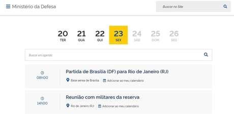 Ministro da Defesa, Walter Braga Netto, registroudois encontros com militares da reserva no Rio