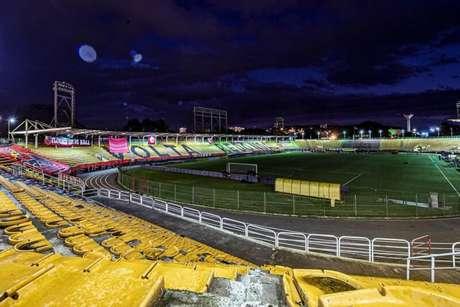 Estádio Raulino de Oliveira recebeu jogos do Paulistão em troca de respiradores (Foto: Marcelo Cortes/Flamengo)