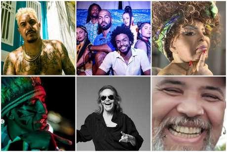 D2, Coletivo Imune, Elza Soares, Kunumi MC, Angela Ro Ro e João Gordo