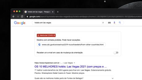Google exibe mais informações sobre COVID-19