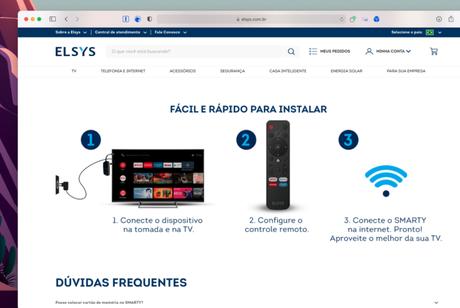 Novo controle remoto da Elsys com botão para DirecTV Go é citado no site da Elsys