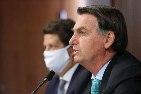 Jair Bolsonaro durante Cúpula de Líderes sobre o Clima