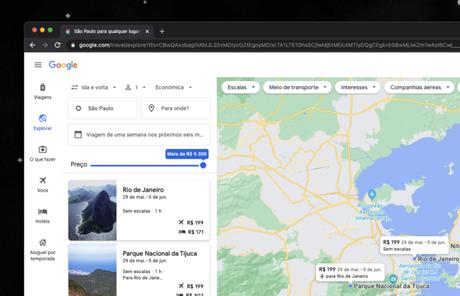 Google Viagens exibe parques nacionais e cidades menores