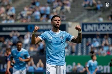 Taty marcou gol na goleada por 5 a 0 do New York City FC na MLS no último fim de semana (Foto: Divulgação/NYCFC)