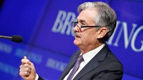 Jerome Powell, presidente do Federal Reserve dos Estados Unidos, vê euforia preocupante no mercado de investimentos
