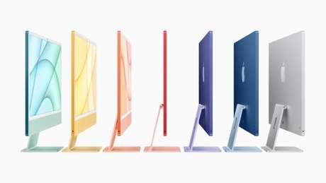 Novo iMac com chip M1 e várias cores
