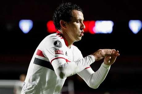 Pablo fez o primeiro gol do São Paulo na partida desta quinta-feira (Foto: Sebastiao Moreira / POOL / AFP)