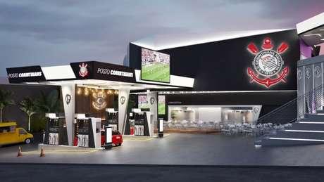 Posto Corinthians será inaugurado em Itaquera e será temático em alusão ao clube (Foto: Divulgação/Corinthians)