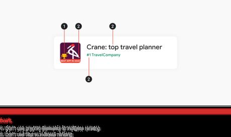 Exemplo de prática não recomendada em títulos e ícones de apps no Google Play