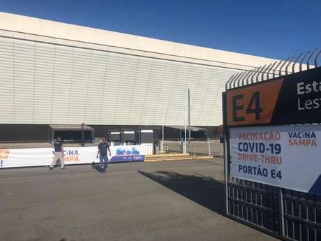 Vacinação na Neo Química Arena iniciou há cerca de três meses (Foto: Agência Corinthians)