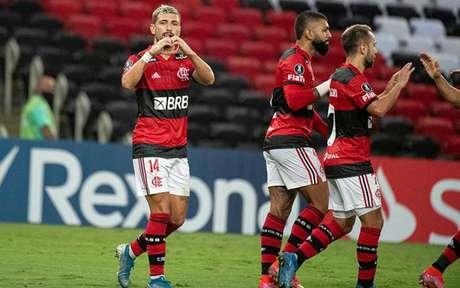 Flamengo tem 100% de aproveitamento na Libertadores (Foto: Alexandre Vidal/Flamengo)