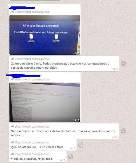 Suposta troca de mensagens entre funcionários do TJRS