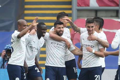 Manchester City venceu o Crystal Palace (Foto: STEVEN PASTON / POOL / AFP)