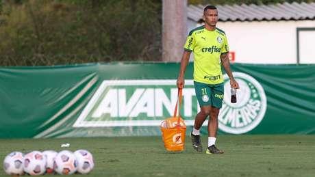 Veron avançou em sua recuperação, mas segue lesionado (Foto: Cesar Greco/Palmeiras)