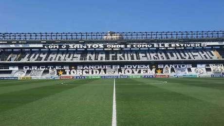 Mosaico feito pela Torcida Jovem no clássico contra o Corinthians (Foto: Torcida Jovem do Santos)