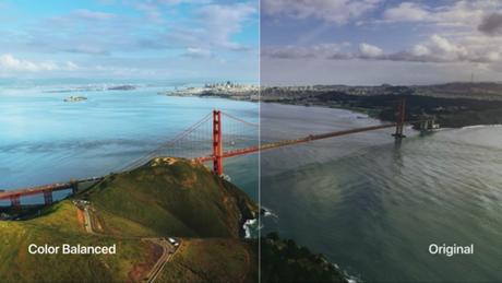 Balanço de cores com Apple TV