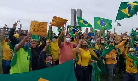 Ato pedindo intervenção militar em Brasília