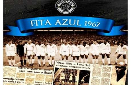 Santos ganhou a Fita Azul em 1967 (Foto:Reprodução)