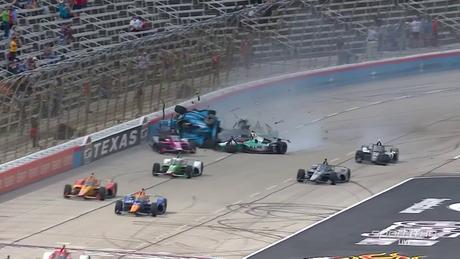 Teve big-one já na largada do GP do Texas 2, a primeira vitória de O'Ward na Indy
