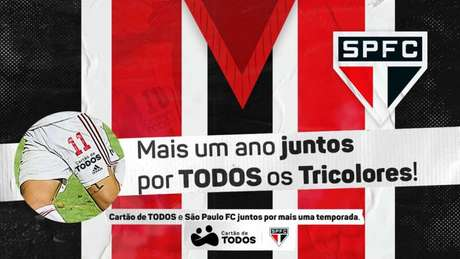 São Paulo renovou patrocinador com Cartão de Todos (Foto: Divulgação)
