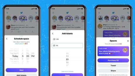 Twitter planejas salas de áudio pagas no Spaces