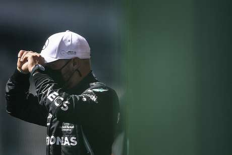 Valtteri Bottas sofreu um problema no sensor do carro da Mercedes no GP de Portugal