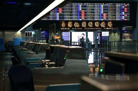Saguão de embarque do aeroporto de Taoyuan em Taiwan 07/01/2021 REUTERS/Ann Wang