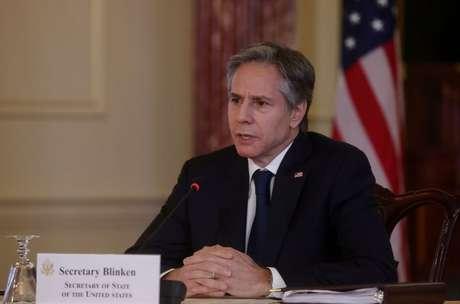 Secretário de Estado dos EUA, Antony Blinken, em Washington 27/04/2021 REUTERS/Leah Millis/Pool
