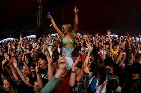 Liverpool, no Reino Unido, sedia festival piloto pós-Covid 02/05/2021 REUTERS/Jason Cairnduff